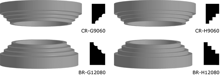 Capital and Base Rings Made from EPS Foam