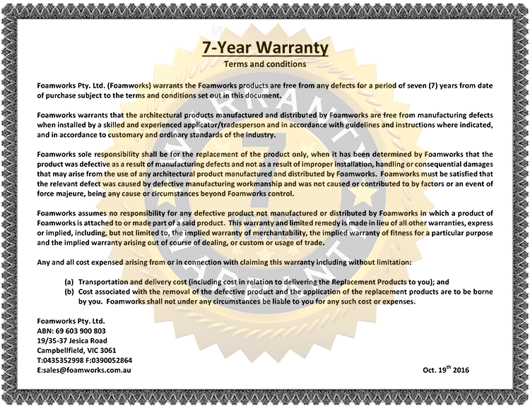 Loading... 7-Year Warranty Terms and Conditions